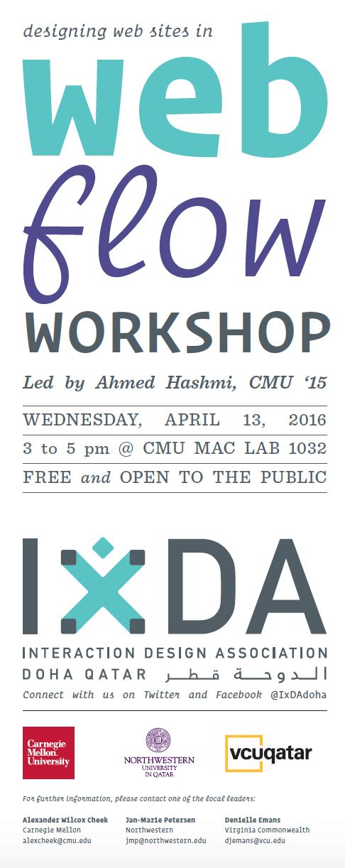 Web Flow Workshop IxDA Doha